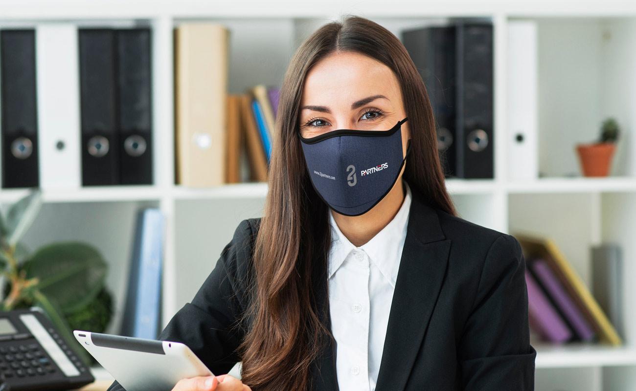 Denim - Masques imprimés avec logo